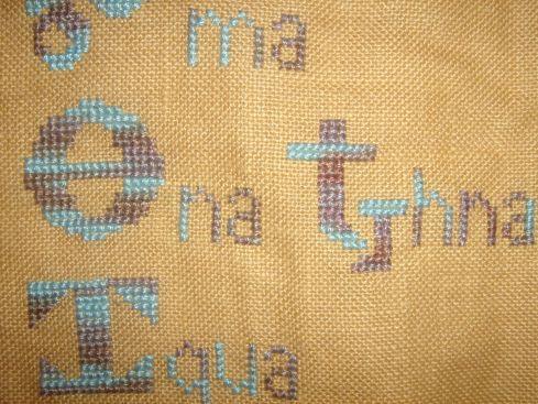 cherokee alphabet closeup